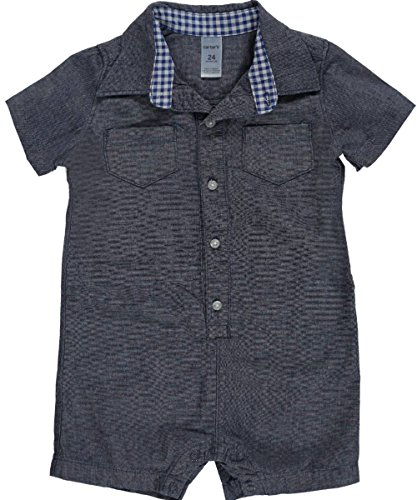 "Carter's Baby Boys' ""Chambray & Gingham"" Romper"