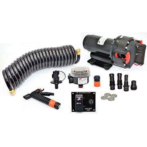 (Johnson Pump 3001.3636 65434 Aqua Jet Wash Down 5.2 GPM Pump Kit-12V)