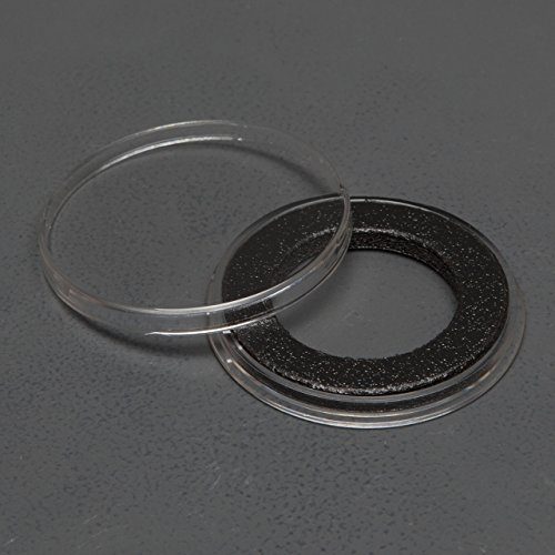 (25) Genuine Air-Tite Coin Holders Brand Black Ring Type Coin Capsules Protect your Valuable Silver, Gold, Platinum, Challenge, and Medallion Coins with our Crystal Clear Protective Holders (26mm Black Ring)