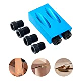 Sundlight Pocket Hole Jig Kit 6/8/10mm Drive Adapter for Woodworking Angle Drilling Holes Guide Wood Tools