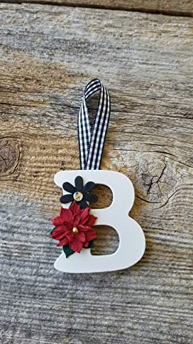 Buffalo Plaid Alphabet Christmas Ornaments, Tag 2