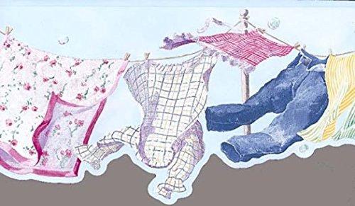 Laundry Line Wallpaper Border