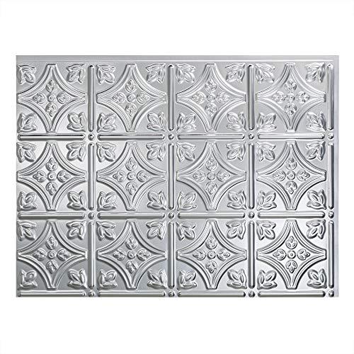 (FASÄDE Easy Installation Traditional 1 Brushed Aluminum Backsplash Panel for Kitchen and Bathrooms (18