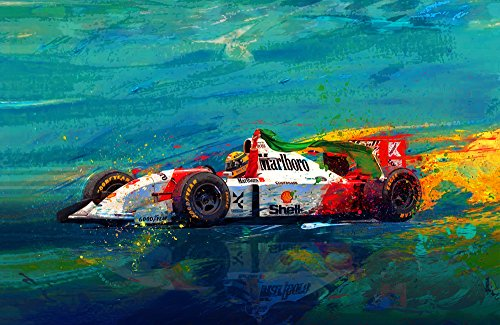 """Ayrton Senna """"Simply the Best"""" 24"""" x 36"""" Canvas Print for sale  Delivered anywhere in USA"""