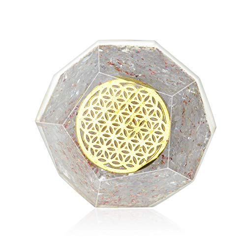 Orgone Dodecahedron-Orgonite Healing Crystal Quartz Dodecahedron for EMF protection-Energy generator Crystal