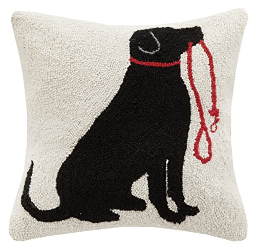 - Peking Handicraft Lab and Leash Hook Pillow, Black/Red