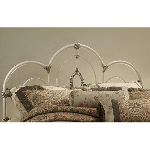 Hillsdale Furniture 1310HFQR Victoria Headboard with Rails, Full/Queen, Antique White