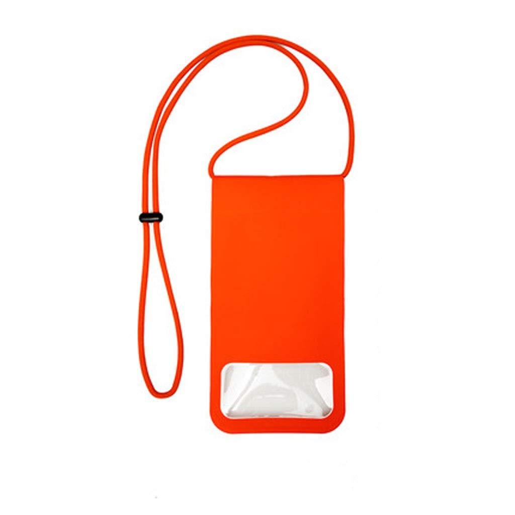 Hzpxsb Mobile Phone Waterproof Bag Sealed Mobile Phone Bag Diving Set Universal Swimming Camera Underwater Touch Screen Hanging Neck Bag (Color : Red)