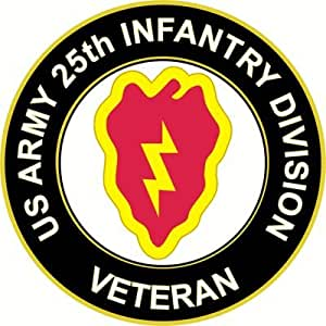 """US Army Veteran 25th Infantry Division Sticker Decal 5.5"""""""