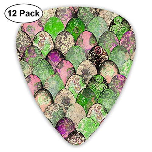 Easter Retro Green Greige Pinks Small Medium Large 0.46 0.73 0.96mm Mini Flex Assortment Plastic Top Classic Rock Electric Acoustic Guitar Pick Accessories Variety Pack