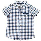 mud pie boy 3t - Mud Pie Baby Boys Gingham Short Sleeve Button Down Shirt, Blue, MD/2T-3T