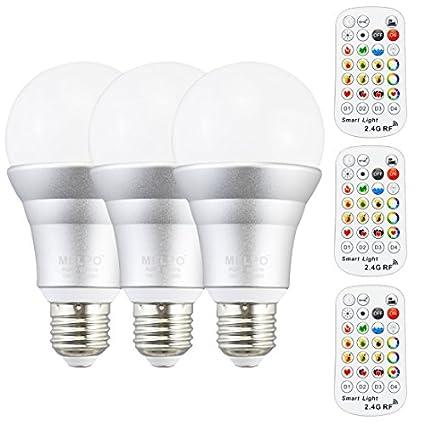 Melpo intensidad regulable bombillas LED con RF remoto Control (4 zonas), 1 millones