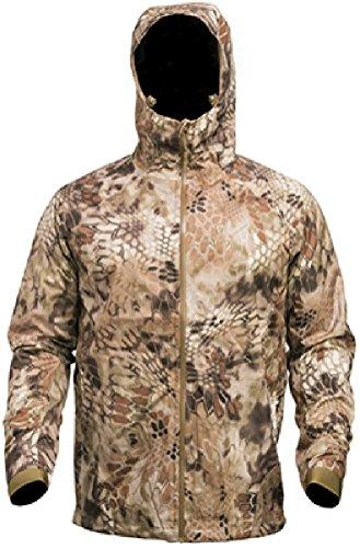 Kryptek Poseidon Men's Waterproof Rain Jacket, Highlander, - Fleece Duck Jacket Active