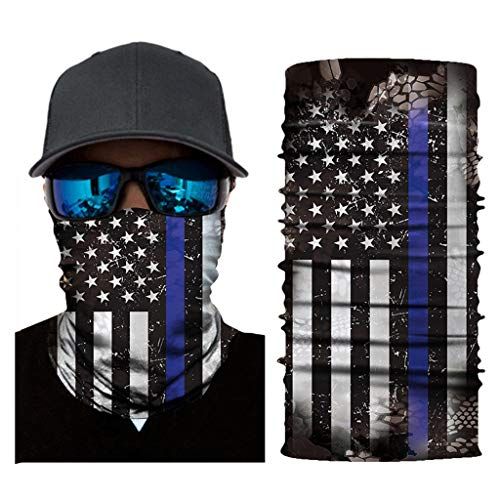 100% Seamless Microfiber mask - Sun Dust Wind Protection Mask Half Face Mask Bandana Summer Breathable Thin Mask fits Men Women - Motorcycle Riding, Skiing, Snowboarding, Hiking & More (Multicolor A) ()