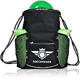 Soccerware Soccer Bag Backpack - XL Capacity | Kids & Adult | Heavy Duty | Fits Soccer Ball, Shins, Cleats | U5 - U22 Boys/Girls Adjustable Size