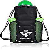 Soccer Bag Backpack with Ball Holder Pocket for Kids Youth Boys Girls School Sackpack