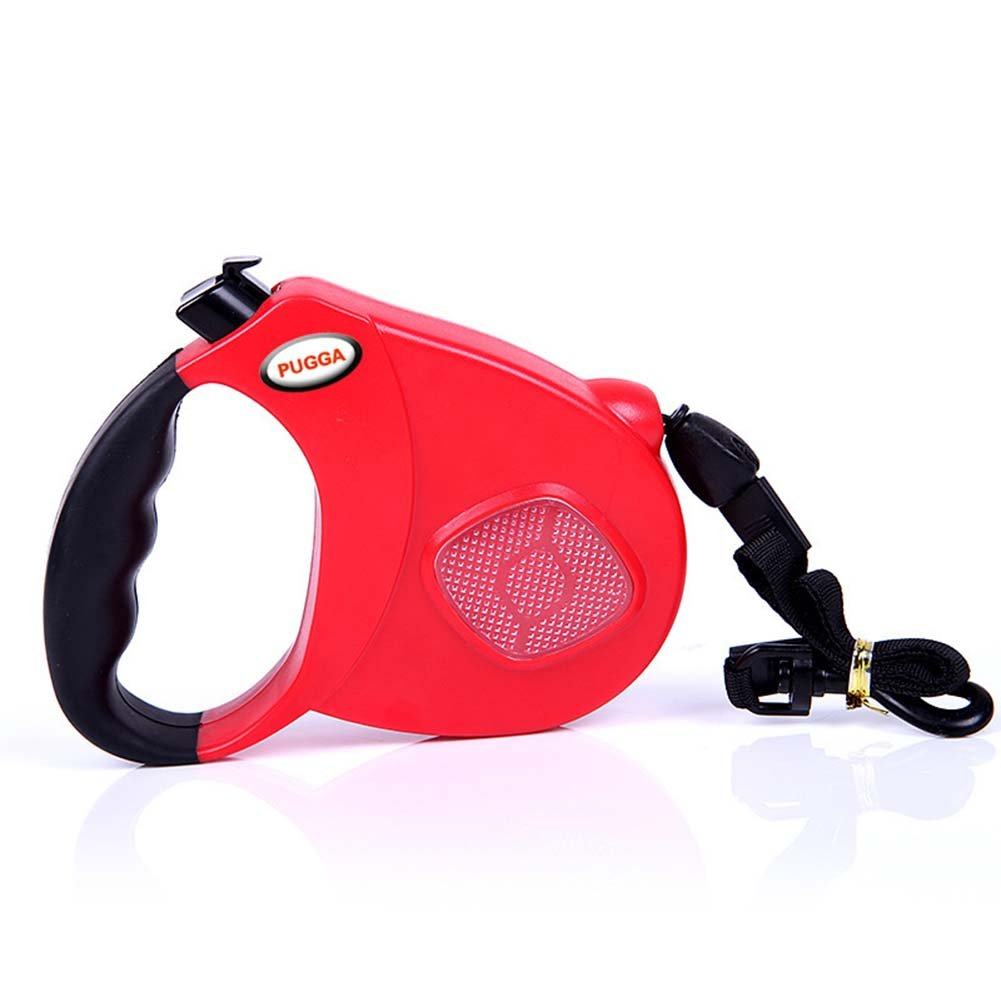 Red Retractable Tangle Free Dog Cord Leash 16 Feet 5 Meters for Small Medium Large Dogs up to 44 lbs