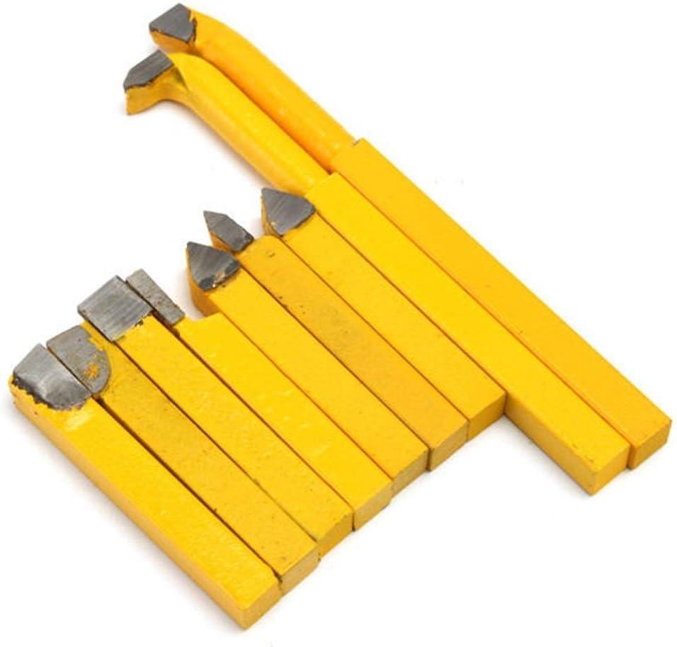 Lathe Outils de coupe au carbure Inserts pour m/étal Outil 9pcs tournant Tour 8x8mm YW1 carbure porte-outil tournant tour jaune pour semi-finition et de finition en acier Usinage
