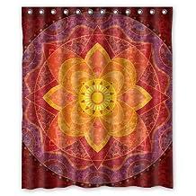 "Singing bathroom Superior Custom Mandala Paisley Damask WaterProof Polyester Fabric 48""(W)x72""(H) Shower Curtain"