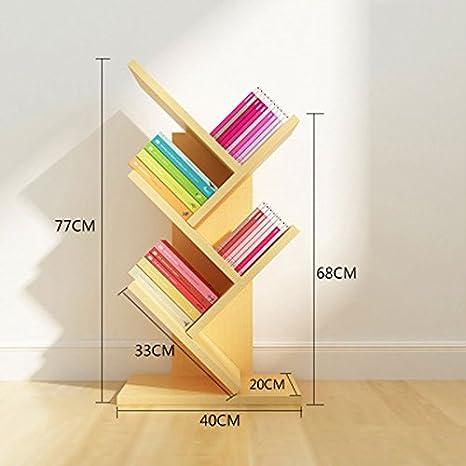 Perchero Creative Tree Floor Bookshelf Wall Habitación para ...