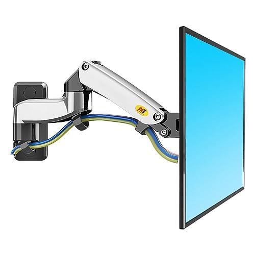 NB North Bayou F150 17 27 Soporte de Pared para TV Doble Brazo Giro y inclinación para televisores LCD LED Soportes Soporte de Monitor Universal Adecuado para Todo televisores VESA 75 100 Plateado