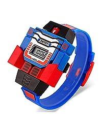 SKMEI Reloj para Niño Digital Diseño Infantil Robot Desmontable Hora y Fecha Modelo 1097. Blue