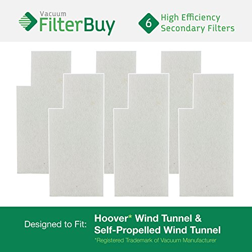 6 - Hoover WindTunnel Secondary Filters. Designed by FilterBuy to fit Hoover Tempo Widepath and Fold Away Vacuum Cleaners. Replaces Hoover parts 38765-019, 38765019, 38765023, and 38765-023. ()