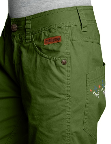 Maloja Shorts Akilahm - Pantalones cortos, color verde, talla L verde