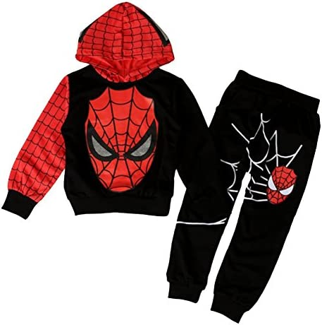 Kinder Jungen Spiderman Kapuzenpulli Hoodie Jacke Sweatshirt Hose Feste Kostüm