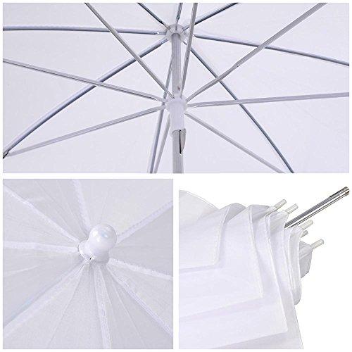 AW Portable Flat Clothing Photography Kit w/Backdrop 2X 45W Bulb 2X 33 Translucent White Umbrella Set by AW (Image #3)