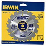 Irwin Tools 14027 5-1/2-Inch by 18 Teeth Cordless Circular Saw Blade with 10mm Arbor