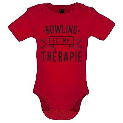 Le bowling est ma thérapie - Marrant Bébé-Body - Rouge - 12 à 18 mois