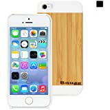 Snugg iPhone 5 / 5S Case - Ultra Thin Case with Lifetime Guarantee (White - Real Bamboo Rear) for Apple iPhone 5 / 5S