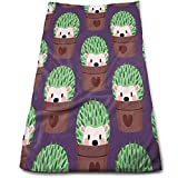 Hedgehog Cactus Towels Multi-Purpose Microfiber Soft Fast Drying...