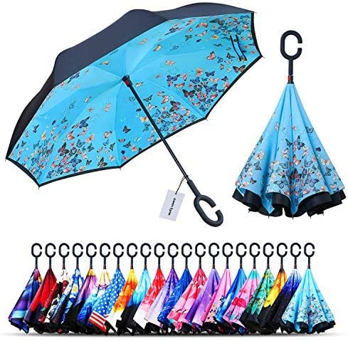 Reverse Umbrella Abstract Illustration Of A Piano Keys With Musical Notes Background Inverted Umbrella,UV Protection Windproof Umbrella C-Shaped Handle Double Layer Reverse for Car Outdoor Use