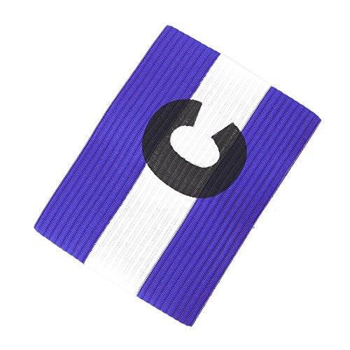 Lettre C Imprimé Football Jeu élastique Polyester Armband Bleu Blanc