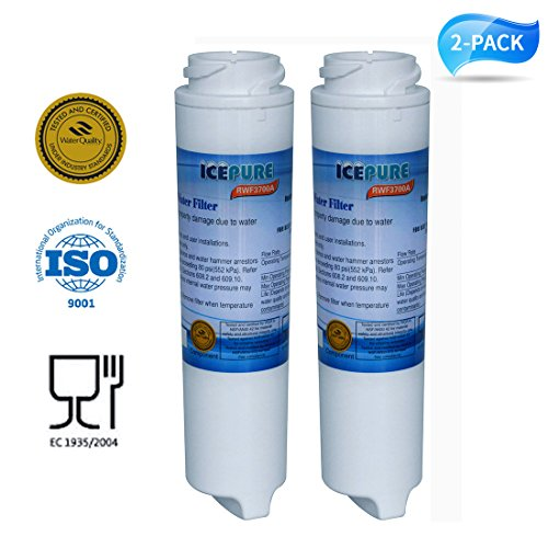Golden Icepure RWF3700A-2PACK SmartWater filter cartridge compatible with GXRLOR,GXRLQR,GXSTQ,GXSTQR