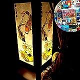 Lotus Koi Fish Colorful Handmade Asian Oriental Wood Light Night Lamp Shade Table Desk Art Gift Home Vintage Bedroom Bedside Garden Living Room; Free Adapter; a Us 2 Pin Plug #456
