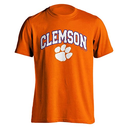 Clemson University Tigers Orange Arch Paw Short Sleeve T-Shirt (M)
