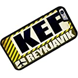 Rubber Case for iphone 6 Airportcode KEF Reykjavik - Neonblond