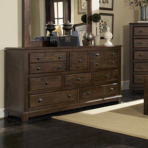 Laughton 8-Drawer Dresser Rustic Brown