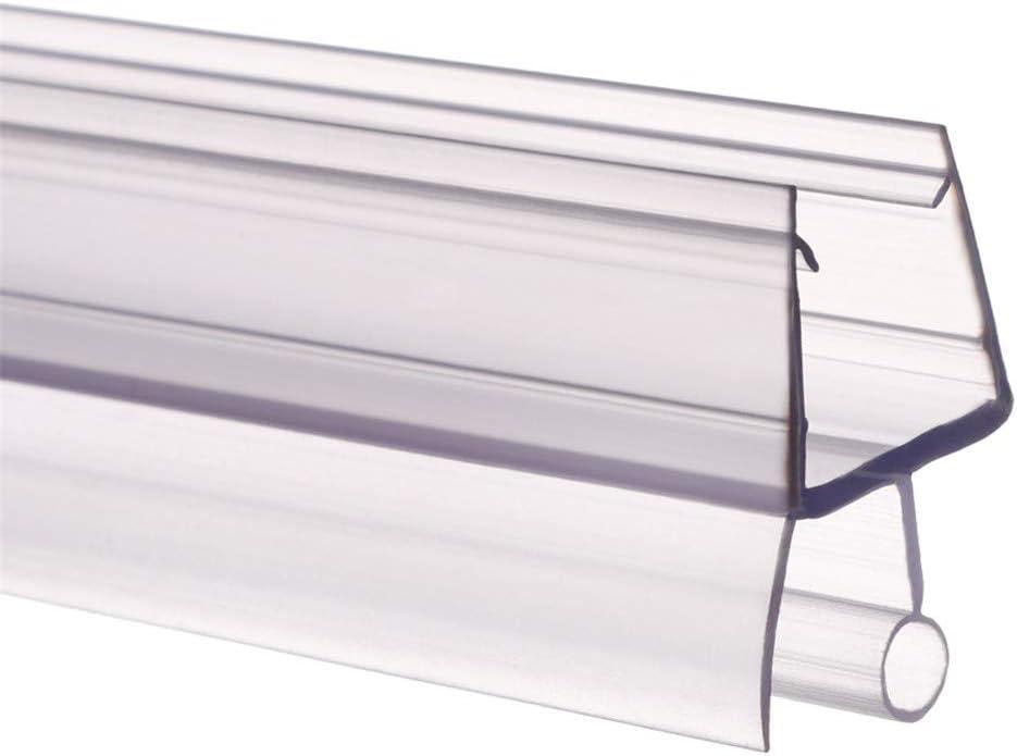 FJODE 2Pcs Sealing Strips of Transparent Bath Shower Screen Door Strip Gap Window Weatherstrip Sealing Strips B-12mm