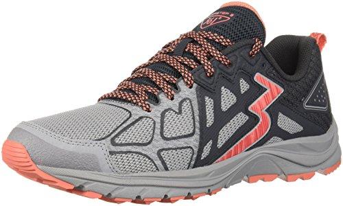 361 Women's 361-Overstep 2 Trail Running Shoe, Sleet/Ebony, 9.5 M US