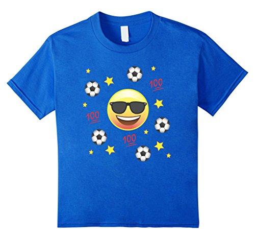 Kids Emoji Love Play Soccer Team T-Shirt Shirt Kids Mom Dad 12 Royal Blue