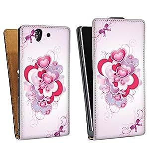 Diseño para Sony Xperia Z L36h DesignTasche Downflip black - Luxury Love