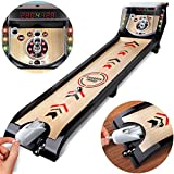SHARPER IMAGE Electronic Arcade Speedball Toy Set, One/Two Player Competitive Gameplay Style, Built in Lights/Sounds Digital LED Scoreboard, 3-Feet Long/1 Meter Lane, Best Gift for Children