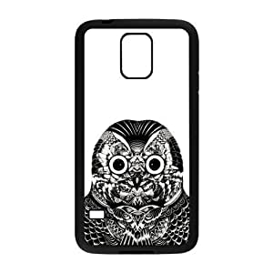 Black and White Owl Rubber Samsung Galaxy S5 Case Cover