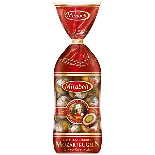 Chocolate Covered Nougat Marzipan - Mirabell Mozart Kugeln Echte Salzburger 290g/ 17 pieces