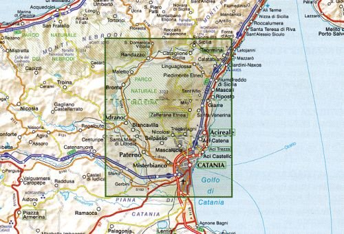 Sizilien Karte ätna.Sizilien Wanderkarte Etna ätna Topographische Freizeitkarte 1