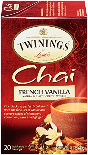 (Twinings of London French Vanilla Black Chai Tea, 20 Count (Pack of 6))